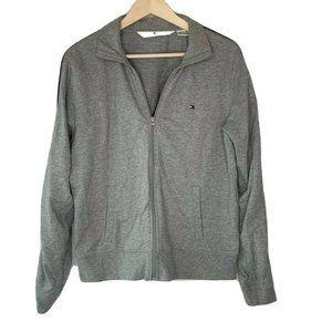 Tommy Hilfiger Unisex Jacket Gray Logo Sleeve XL